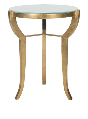Safavieh Ormond Accent Table, Gold/White Glass Top