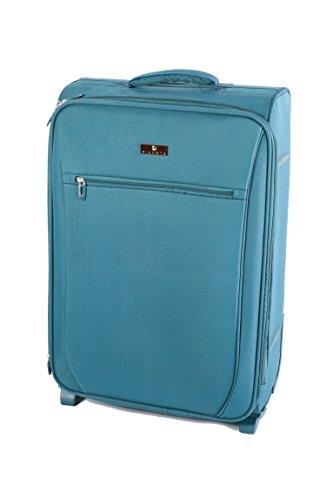 Pianeta baule, valigia, trolley da viaggio, bagaglio per il viaggio, bagaglio a mano (blu M)