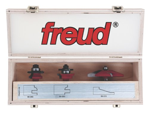 Freud 97-100 3-Piece Cabinet Bit Set with 99-515 and 99-260 Rail and Style Bits