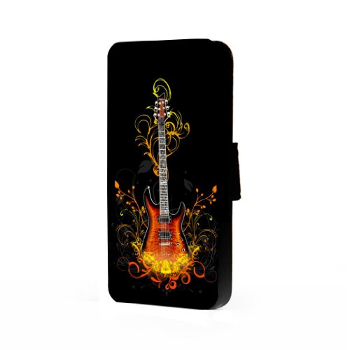 Fire Electric Guitar Art - Iphone 5/5S Trifold Wallet Case