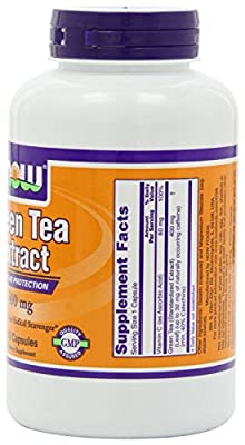 Now Foods Green Tea Extract 400 mg, 750 Gelatin Capsules Pack (mf16kd) Now-bv