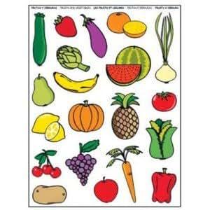 Gommettes les fruits et légumes - IdeesJeux
