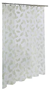 Ex-Cell Home Fashions By Appointment Modern Leaf Fly EVA Shower Curtain