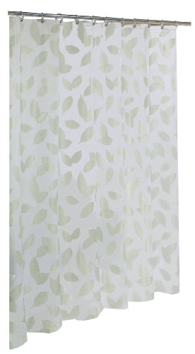 Ex-Cell Home Fashions By Appointment Modern Leaf Fly EVA Shower Curtain (Shower Curtain With Leaves compare prices)