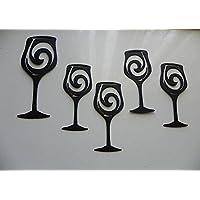 Wine Glasses Set of 5 Metal Wall Art…