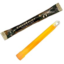 "Cyalume ChemLight Military Grade Chemical Light Sticks, Ultra High Intensity, 6"" Long, 5 Minute Duration"
