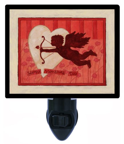 Valentines Day Night Light - Happy Valentines Day - Cupid Led Night Light