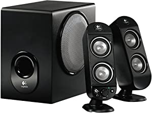 logitech x 230 enceintes 2 1 pour pc informatique. Black Bedroom Furniture Sets. Home Design Ideas
