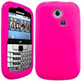 Wayzon Hot Pink Samsung S3350 Ch@t Chat Case Cover Skin Pouch Shell Plain Silica Rubber