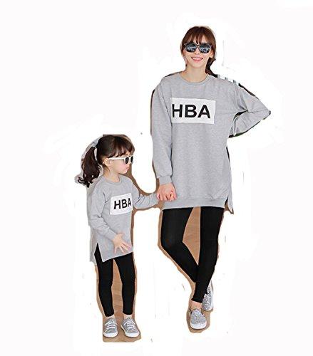 [ニューライフスカイ]子供服 長袖 親子ペア 家族 子供の服 HBA lbertz0018 (ママ:M)