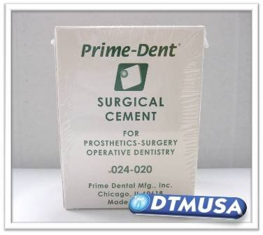 DENTAL CEMENT POWDER AND SURGICAL CEMENT LIQUID SET PRIME DENT. DTM