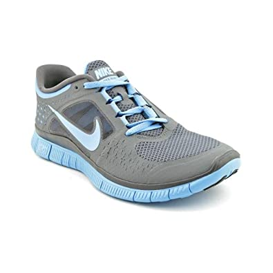 NIKE Women's Free Run 3 Dark Grey/University Blue 12 Medium (B)