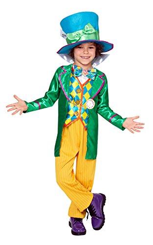 Mad Hatter Boy - Disney Alice in Wonderland - Bambini Costume - grande - 128 centimetri - Età 7-8
