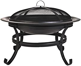CobraCo Steel Basic Fire Pit with Scroll Legs
