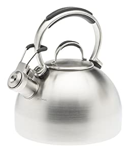 KitchenAid Teakettle 2-Quart Gourmet Essentials Stainless Steel Kettle , Brushed