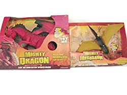 Mighty Dragon Light And Sound Battery Operated Dragon Bundle With Mighty Megasaur Pteranodon Light And Sound Battery Operated 2 Items