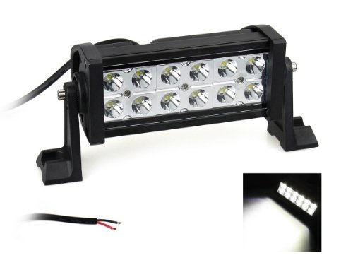 Taotronics 36W 7'' Inch 10-30V Led Off-Road Light Work Light 4X4 -Jeep Cabin/Boat/Suv/Truck/Car/Atvs Fishing Deck Driving Light Waterproof Floodlight: 60 Degress