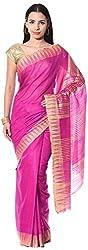 Mahek Women's Silk Saree with Blouse Piece (Magenta)
