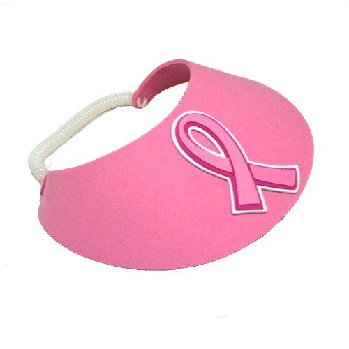 Pink Ribbon Deluxe Foam Visor - 1