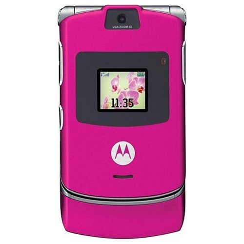 Motorola Razr V3 Unlocked Phone With Camera, And Video Player--International Version With No Warranty (Magenta Pink)