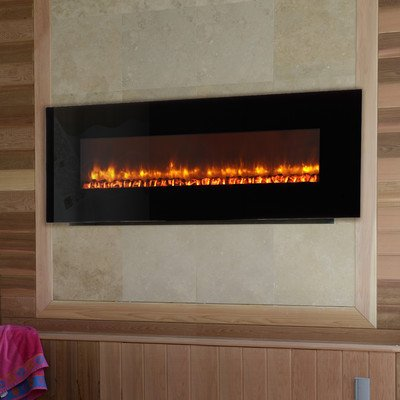Led Wall Mount Electric Fireplace Insert Style: Log