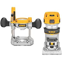 DEWALT DWP611PK 1.25 HP Max Torque Variable Speed Compact Router Combo Kit with LED's by DEWALT