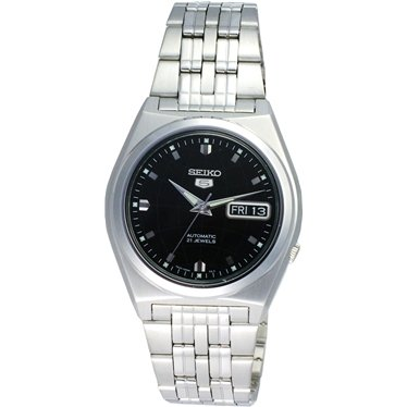 Seiko 5 Gents Black Dial Self Winding Automatic SNK669K1 Bracelet Strap Watch