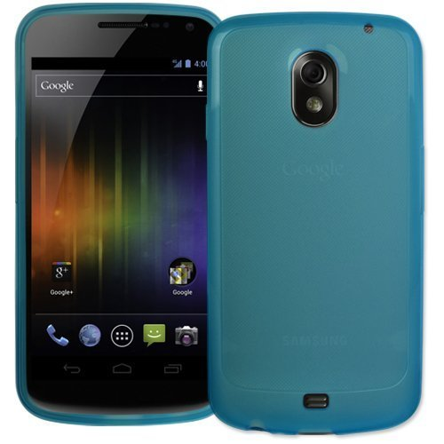 iZKA - Samsung Galaxy Nexus (SCH-i515 &amp; GT-i9250) Blau Gel-Haut-Kasten