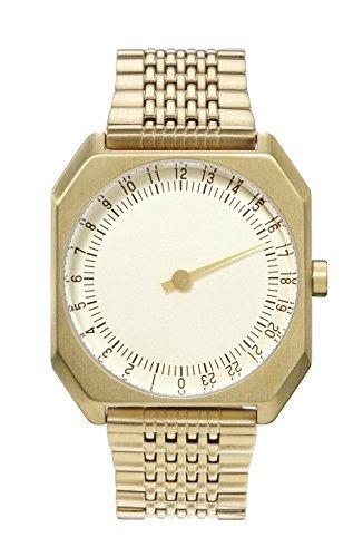 slow Jo 04 - Swiss Made one-hand 24 hour watch - Gold steel (Slow Jo 04 compare prices)