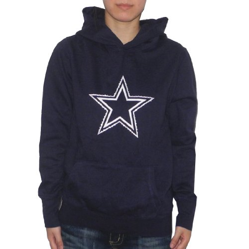 Womens NFL Dallas Cowboys Athletic Pullover Hoodie / Sweatshirt Jacket with Rhinestones by Pink Victoria's Secret Small Dark Blue at Amazon.com