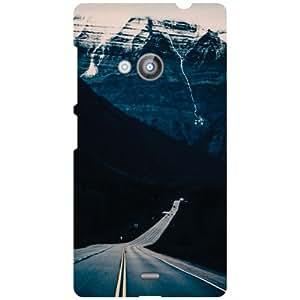 Nokia Lumia 535 Back Cover - Roadway Designer Cases