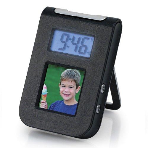 1.5 Digital Photo Keychain with Travel Alarm Clock