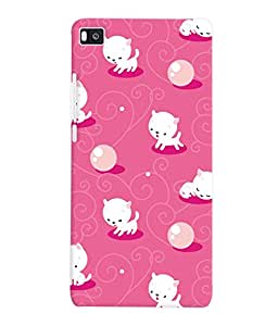 Fuson 3D Printed Cartoon Pattern Designer Back Case Cover for Huawei Honor P8 - D1094