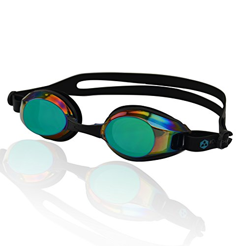 #DoYourSwimming Occhialini da nuoto »Piranha« / Goggle, Top-Quality, 100% UV protection, Anti-fog. Ideal for competition, training, water sports, leisure and triathlon. Come in a solid hard case. Nr.: AF-2100m, black