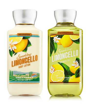 Bath & Body Works discount duty free Bath & Body Works SPARKLING LIMONCELLO Body Lotion + Shower Gel 2PC Bundle From UK!