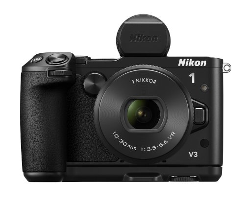 Nikon 1 V3 Mirrorless Camera Kit with 1 Nikkor VR 10-30mm f/3.5-5.6 PD-Zoom Lens, Electronic Viewfinder and Grip