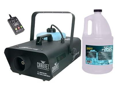 CHAUVET HURRICANE H1300 Pro DJ Smoke Fog Machine Fogger + FJU Fluid Gallon