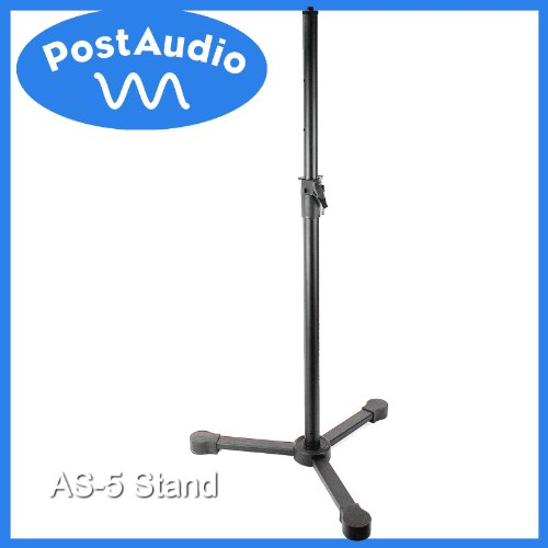 Post Audio As-5 Super Heavy Duty Mic Stand Great For Reflection Filters, Speakers, Lighting