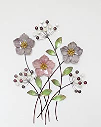 TWG 13SMB0256 Metal Wall Hanging Balloon Flower Bouquet