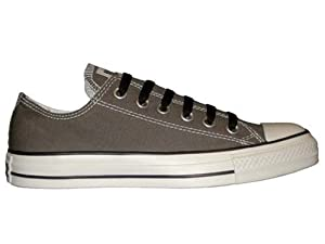 Converse Mens Chuck Taylor All Star Seasonal Ox Charcoal Fabric Fashion Sneakers Size 4.5