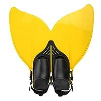 Gwood Meerjungfrau Flossen Monofin Taucherflossen für Kinderschwimmen Schwimm Flossen
