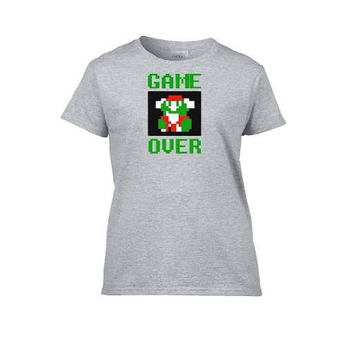 Iamtee Womens Game Over T-Shirt-Grey-S