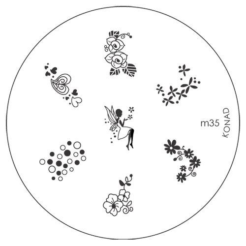 Konad Image Plate Nail Art - M35