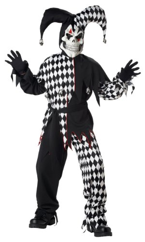 Kids Evil Jester Halloween Costume