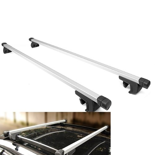 """New 49"""" Aluminum Adjustable Roof Top Rack Cross Bar Side Rail Carrier Luggage Cargo Universal Fit Suv Auto"""