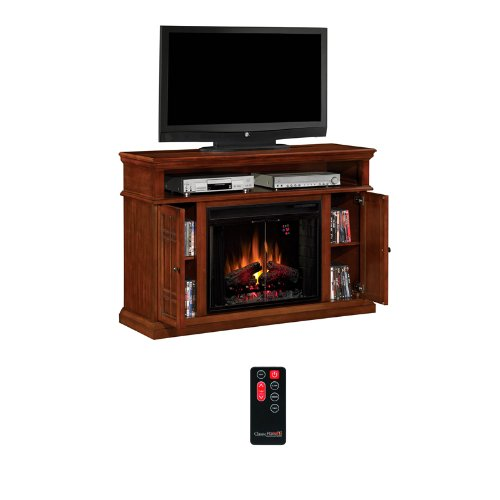 ClassicFlame Carmel Electric Fireplace Media Cabinet in Pecan Cherry - 28MM764-C253 photo B004VYMPYA.jpg