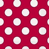 Serviettes de table de déjeuner 16/Pkg-Ruby points décoratifs rouges