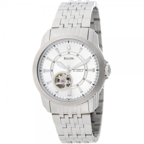 Bulova 96A100 Mens BVA Series Silver Dial and Bracelet Watch
