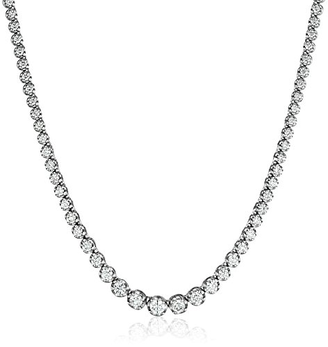 14K-White-Gold-17-Graduate-Diamond-Tennis-Necklace5cttw-K-L-Color-I1-I2-Clarity
