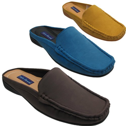 Ladies Womens Slip On Moccasin Mules Flat Deck Boat Loafers Casual Slippers Shoes Sizes UK 3 4 5 6 7 8